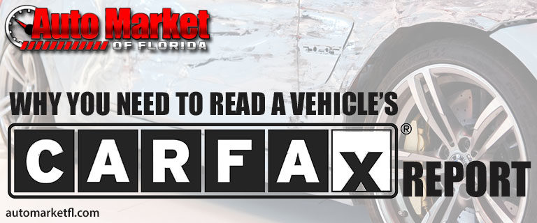 Read your vehicles carfax