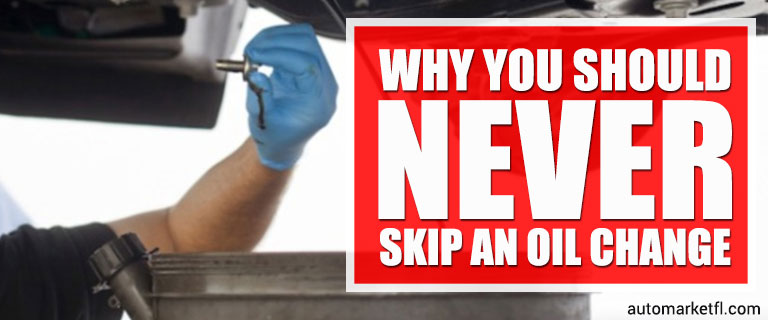 Why you should never skip an oil change