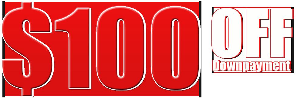 100 off